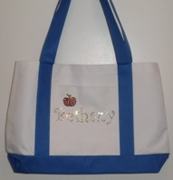 Personalized Tote Bag with Apple