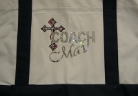 COACH tote bag with cross