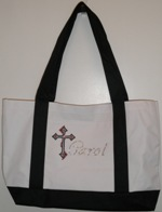 Personalized Tote Bag with Cross