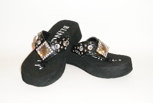 Bling Beauty diamond rhinestone flip flops, style 05
