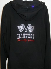Harvest Supply logo on sweatshirt