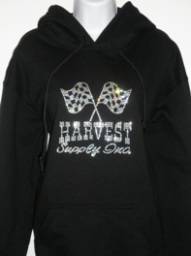 Harvest Supply logo on sweatshirt (front)