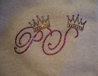 Initials with crown