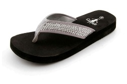 Corkys Silver sequin flip flops-Style Isabelle